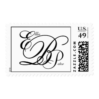 Monogram Three Letters and Names USPS Postage