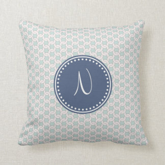 Mo'N'ogram Throw Pillow