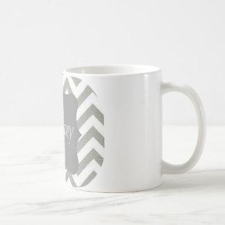 Monogram Tiffany Chevron Coffee Mug