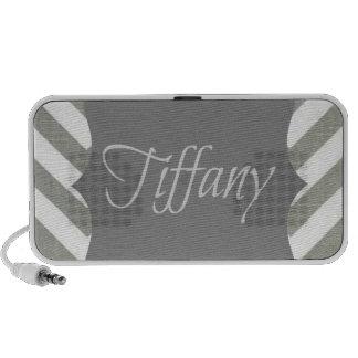 Monogram Tiffany Chevron iPod Speakers