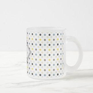 Monogram Tiny Polka Dots Pattern Mug