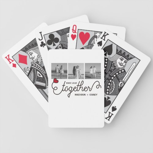 Monogram Together Typography Art Instagram Photos Bicycle Playing Cards
