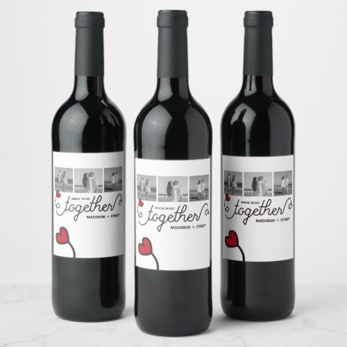 Monogram Together Typography Art Instagram Photos Wine Label