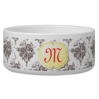 Monogram Toile Pet Bowl