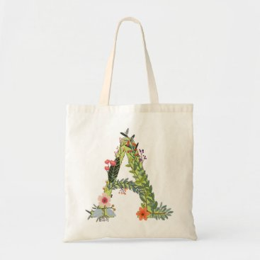 Beach Themed Monogram Tote-letter A Tote Bag