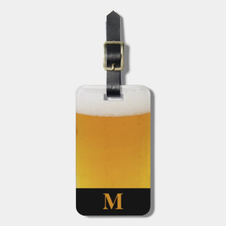 Monogram Travel Beer with Foam Luggage Tag