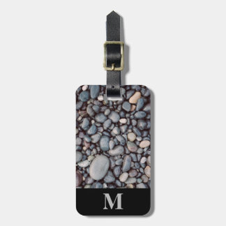 Monogram Travel Gray Rock Pebbles Luggage Tag