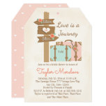 Monogram Traveling From Miss To Mrs Bridal Shower Card at Zazzle