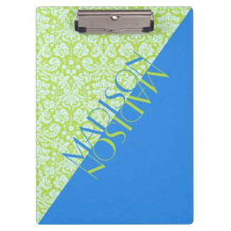 Monogram Trendy Resort Fashion Lime Green Blue