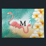 "Monogram Tropical Flamingos Beach Paradise Cloth Placemat<br><div class=""desc"">Place Mats. Featuring a Monogram Tropical Flamingos Beach Paradise Design. 100% Customizable. Ready to Fill in the box(es) or Click on the CUSTOMIZE button to add, move, delete or change any of the text or graphics. Made with high resolution vector and/or digital graphics for a professional print. NOTE: (THIS IS...</div>"
