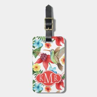 Monogram Tropical Hummingbird Bag Tag
