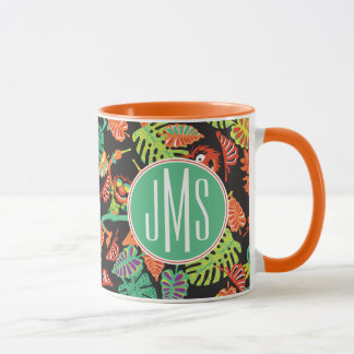 Monogram Tropical Kermit & Animal Pattern Mug