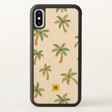 Monogram. Tropical Palm Trees. iPhone X Case
