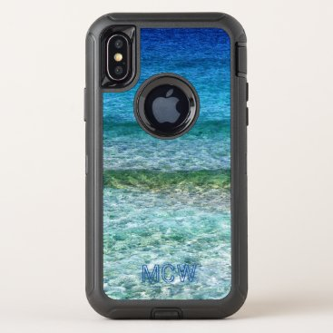 Monogram - Tropical Waters - OtterBox Defender iPhone XS Case