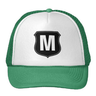 Monogram trucker hat with custom letter