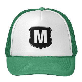 Monogram trucker hat with custom letter