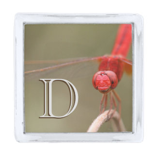 Monogram Trust Your Wings Dragonfly Silver Finish Lapel Pin