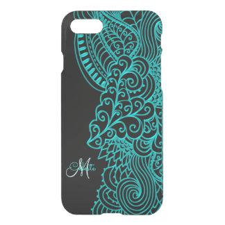 Monogram Turquoise and Black iPhone 7 Case