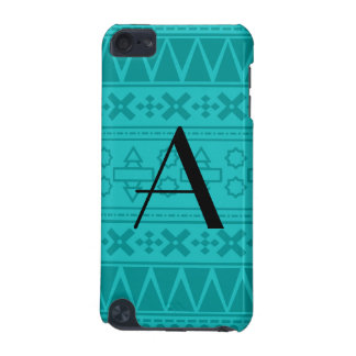 Monogram turquoise aztec pattern iPod touch 5G case