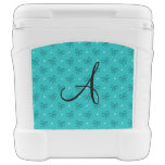 Monogram turquoise diamonds and bows roller cooler