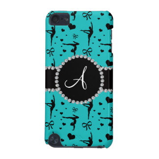 Monogram turquoise gymnastics hearts bows iPod touch (5th generation) case