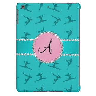 Monogram turquoise gymnastics pink circle iPad air cover