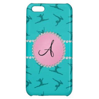 Monogram turquoise gymnastics pink circle iPhone 5C case