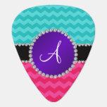 Monogram turquoise pink chevrons purple diamonds pick