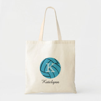 Monogram Turquoise Volleyball Tote Bag