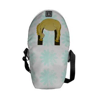 Monogram U Cute Pony Personalized Messenger Bag