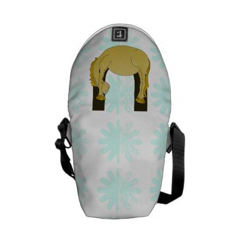 Monogram U Cute Pony Personalized Messenger Bags