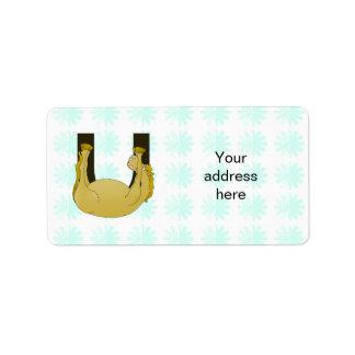 Monogram U Funny Pony Customised Label