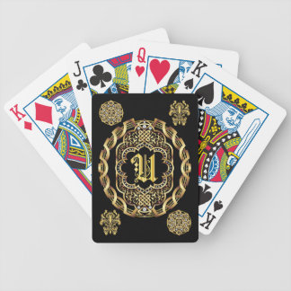 Monogram U IMPORTANT Read About Design Bicycle Playing Cards