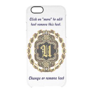Monogram U iPhone 5/5s & 6-6 plus  Deflector Case