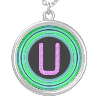 "Monogram ""U"" Necklace"