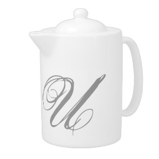 Monogram U Teapot