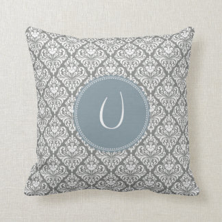 Monogram 'U' Throw Pillow