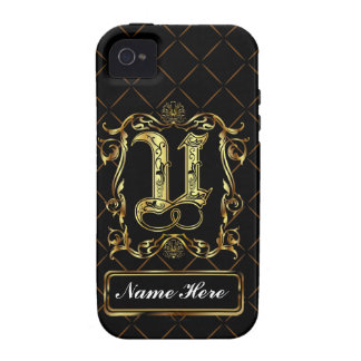 Monogram U Vibe Important View Notes Please Vibe iPhone 4 Covers