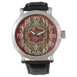 Monogram V Customize Edit Change Background Color Wristwatches