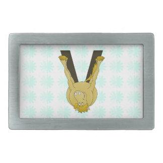 Monogram V Cute Horse Personalised Belt Buckle