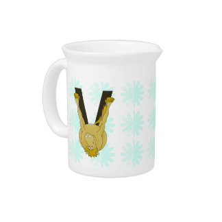 Monogram V Cute Horse Personalised Pitcher
