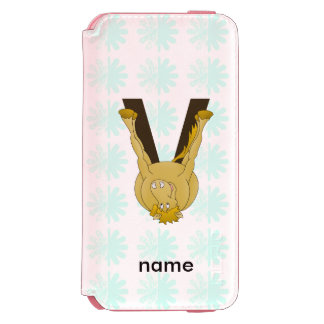 Monogram V Flexible Horse Personalised iPhone 6/6s Wallet Case