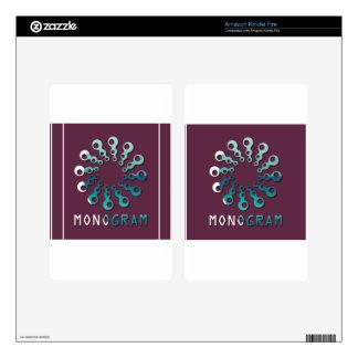 Monogram Vector Logo Design Kindle Fire Skins