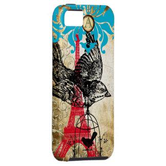 Monogram Vintage Bird Effiel Tower Damask iPhone iPhone 5 Cover