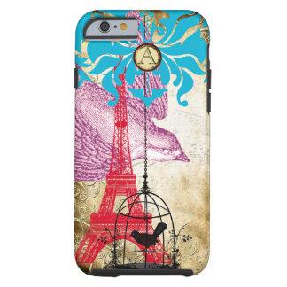 Monogram Vintage Bird Effiel Tower Damask iPhone Tough iPhone 6 Case
