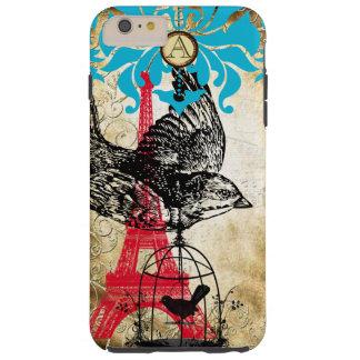 Monogram Vintage Bird Effiel Tower Damask iPhone Tough iPhone 6 Plus Case