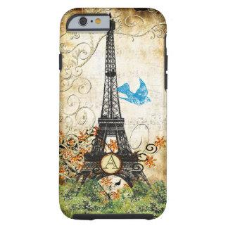 Monogram Vintage Bird Effiel Tower iPhone Case Tough iPhone 6 Case