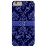 Monogram Vintage Blue Damask iPhone 6 Plus Case