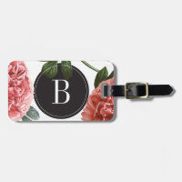 Monogram Vintage Botanical Print | Luggage Tag