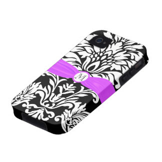 Monogram Vintage Damask Floral Pattern iphone iPhone 4/4S Covers